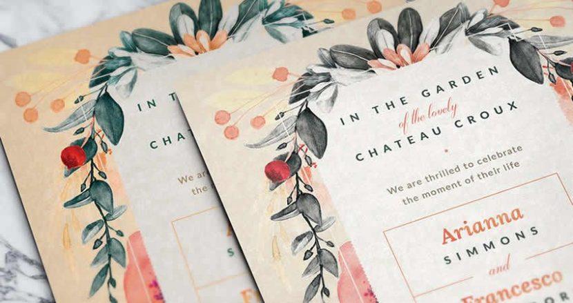 Designing Wedding invitations templates