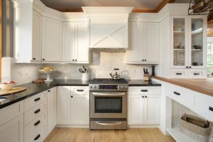 The kitchen cabinets might need a little bit of makeover